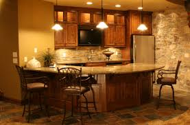 decoration warm interior nuanced of home basement bar ideas completed with classy bar table and agreeable home bar design
