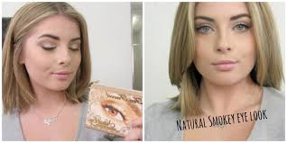 natural smokey eye with too faced natural eye palette