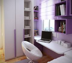 l lovely small bedroom decorating ideas pushing white finish solid wood floating study desk under purple finish wooden floating shelves plus glossy white bedroomlovely white wood office chair