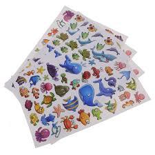 <b>4pcs Stickers</b> Sea <b>Animal</b> Mixed Style Fish Cartoon Self Adhesive ...