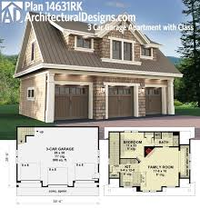 ideas about Garage Apartments on Pinterest   Garage      MAN CAVE   WORK SHOP   Architectural Designs Carriage House Plan gives you parking for cars on the main floor and a fully functioning apartment
