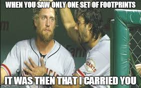 Hunter Pence and Michael Morse shared a special moment. These ... via Relatably.com