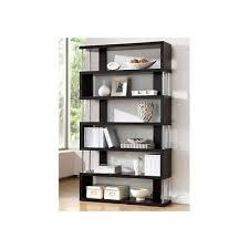 office furniture wall unit. bookcase wall unit 6 shelves brown wood storage home office furniture book shelf
