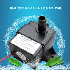 Mini <b>Ultra quiet</b> Water Pump <b>DC 12V</b> 4.2W 240L/H Flow Rate ...