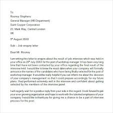 letter of inquiry     free samples   examples   formatinquiry letter sample