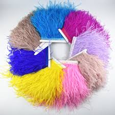 <b>Hot sale</b> 1 meters 8 10CM <b>Real</b> Colored Ostrich Feathers for crafts ...