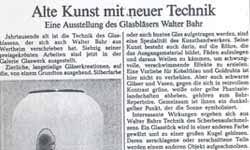 Walter Bahr – Alte Kunst mit neuer Technik | Galerie Glaswerk ... - walther