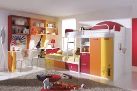 best kids bedroom decorating ideas with white bunk beds which has storage drawers and wall bookshelf amazing amazing kids bedroom ideas calm