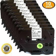 10pcs tze231 black on white laminated tze tape compatible brother 12mm 8m tz231 tze 231 tz 231 label ribbon for p touch printers
