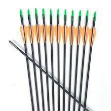 <b>6 12 24pcs 30 Inches</b> ID4mm <b>Fiberglass</b> Arrow Orange White ...