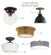 Flush Mount Kitchen Ceiling Lights Upgrading The Boob Light Kitchen Sinks One By One And Change 3