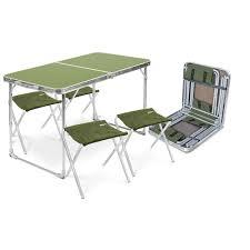 <b>Комплект мебели</b> складной, стол + <b>4</b> стула (арт. ССТ-К2) - Nika
