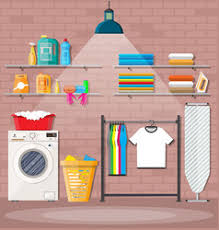 <b>Cartoon Laundry Room</b> Vector Images (over 330)