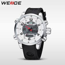<b>WEIDE Men Sports Military</b> LCD Digital + Quartz Watch Dual Time ...