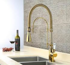 European style brass Gold/<b>Chrome finished kitchen</b> faucet Pull Out ...