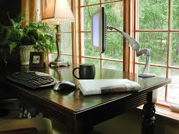 team 7 blonde wood framed windows in home office with contrasting wooden desk blonde wood office