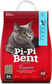 """<b>Наполнитель</b> """"<b>Pi</b>-<b>Pi</b>-<b>Bent</b>"""" для кошачьего туалета, <b>комкующийся</b> ..."""