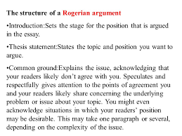 writing to argue or persuade what do you see  a man playing a    the structure of a rogerian argument introduction sets the stage for the position that is
