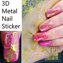 1 лист золотые 3D металлические <b>наклейки для ногтей</b> ...
