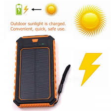 ZHAOYAO 10000mAh DC 5V Dual USB Solar Power Bank Charger ...