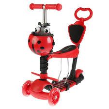 <b>Next</b> 284683 <b>Самокат 3</b>-<b>х колесный</b>, 3в1/ красный для детей ...