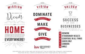 mission vision values for a real estate business ben kinney companies mission vision values