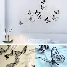 <b>18Pcs</b>/<b>набор 3D бабочка</b> стикер искусства стены ...