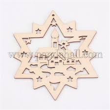 Wholesale Undyed <b>Wooden Pendants</b>, <b>Star</b>, for <b>Christmas</b> Theme ...
