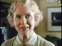 In 1996, aged 75, Muriel appeared in an episode of Poirot - The Dumb Witness - as the batty Julia Tripp, with Pauline James as her sister Isabel. - MPasJuliaTrippinPoirot1997