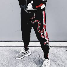 <b>Red</b> Snake <b>Gothic</b> Style Joggers <b>Streetwear</b> For Men and Women ...
