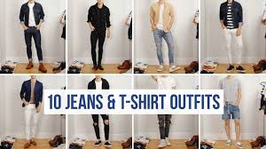 10 Easy Ways to <b>Style</b> Jeans with <b>T</b>-<b>Shirts</b> | <b>Men's Fashion</b> | Casual ...