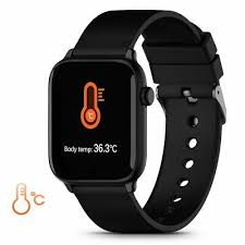 <b>TICWRIS GTS Real-time</b> Body Temperature Smartwatch Heart Rate ...