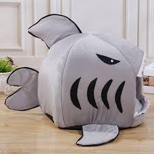 Cute <b>Pet Products</b> Sleeping <b>Shark Cat</b> House Bedding Basket Small ...