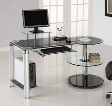 wonderful cool computer desks with glass material and white paint walls in home office design awesome computer desk home
