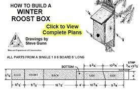 Easy Winter Bird House Plans   Winter Roost Boxwinter bird house plans