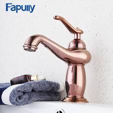 <b>Fapully Bathroom Basin</b> Faucet Rose Gold Single Handle Aladdin ...