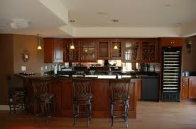 beauteous kitchens look with small wooden bar incredible decorating ideas using black iron barstools and charming home bar design ideas