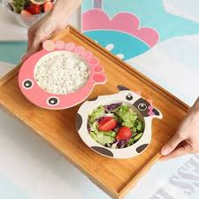 Online Shop Cartoon <b>Bamboo Tableware</b> Animal <b>Baby</b> Feeding ...