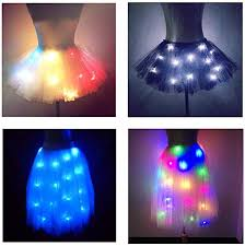 SHINYOU <b>Women Tutu</b> Skirt LED Light Up Ballet Dance Running ...