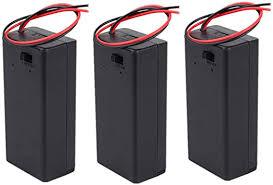 Yosoo <b>3pcs</b> 9V <b>Plastic</b> Battery Holder, DIY <b>Battery Storage</b> Case ...