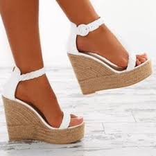 Summer Women Wedges Sandals White Gold Peep toe Big ... - Vova