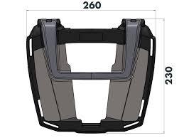 Easyrack topcasecarrier – black for Honda <b>VFR 1200 F</b> (2010-2016)