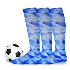 TeeHee Cotton <b>Unisex</b> Soccer Sports Team <b>Flat Knit</b> Socks 3 Pack ...