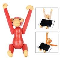 <b>Solid</b>-<b>wood</b> Wooden <b>Phone</b> Holder Table Monkey <b>Multi</b>-<b>function</b> ...
