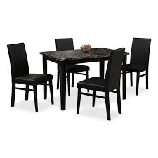 4 chair kitchen table: dining room furniture shadow table and  chairs black