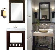 vanity mirrors and large s bathroom inspiration with sink f wooden legs plus wall bined also bathroom bathroom furniture interior ideas mirrored wall