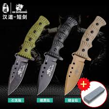 HX OUTDOORS Tactical high hardness straight knife <b>field survival</b> ...