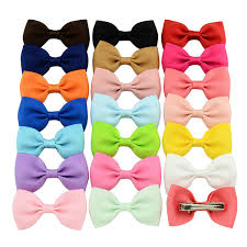 2.75 Inch Baby Bow <b>Hairpins Small Mini</b> Grosgrain Ribbon Bows ...