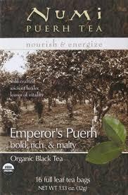 Numi Organic Emperor's Pu-Erh Tea, 16 ct - Kroger
