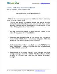 Grade 3 Multiplication Word Problem Worksheets | K5 LearningMultiplication word problems with multiples of 10